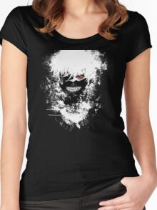 Tokyo Ghoul - The Eyepatch Ghoul (Black Version) Women's Fitted Scoop T-Shirt