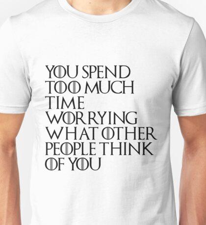 Game Of Thrones Tywin Egotistic Quote Black Version Unisex T-Shirt