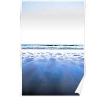 windswept winter beach view Poster
