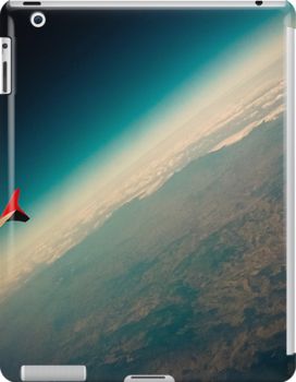Wing, Clouds and land [ iPad / iPod / iPhone Case ] by Mauricio Santana