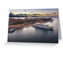 Zadar from th top  Greeting Card