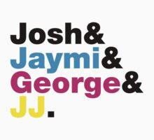 Josh & Jaymi & George & JJ (colour & black) by Tom Clancy