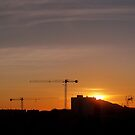 Sunrise in Oliva, Spain. by John  Smith