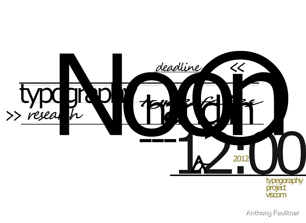 Typography design 4 by Anthony Faulkner
