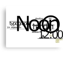 Typography design 4 Canvas Print