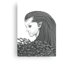 Euryale - Gorgon with Garter Snakes for hair Canvas Print