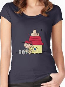 Earthbrown: A Boy and his Saturn 2.0 Women's Fitted Scoop T-Shirt