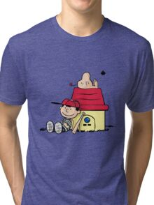 Earthbrown: A Boy and his Saturn 2.0 Tri-blend T-Shirt