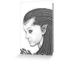 Euryale - Gorgon with Garter Snakes for hair (Face) Greeting Card