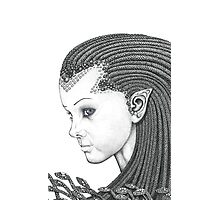 Euryale - Gorgon with Garter Snakes for hair (Face) Photographic Print