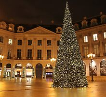 Christmas on Place Vendome, Paris by Elena Skvortsova