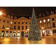 Christmas on Place Vendome, Paris Photographic Print