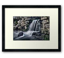 MOTE FALLS Framed Print