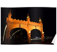 Smithfield Street Bridge at Night Poster