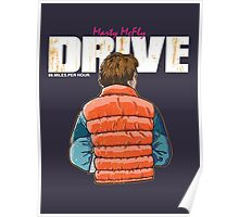 Back to the Future - Drive (Marty Mcfly) Poster