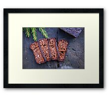 Brown ryemeal bread Framed Print