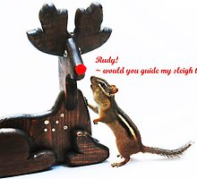 """""""...Rudy, would you guide my sleigh tonight?"""" by Laurie Minor"""