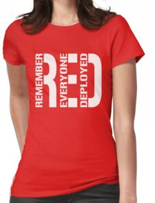 RED - Red on Fridays Womens Fitted T-Shirt