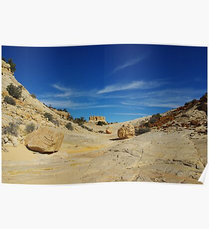 Multicolored rocks in side canyon near Spencer Flat Road, Utah Poster