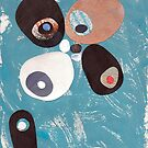 Teal Based Retro Abstract Collage by bearoberts
