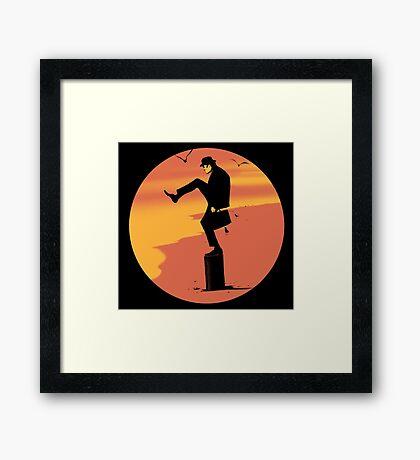 Silly Karate Framed Print