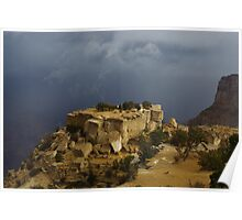 Stormy weather on Grand Canyon, Arizona Poster