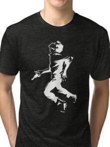 Breathless Running Man - Light Tri-blend T-Shirt