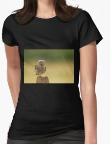 Little owl balancing  Womens Fitted T-Shirt