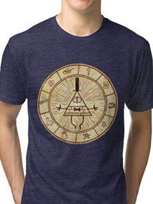 Bill Cipher Circle - Grafity Falls Tri-blend T-Shirt