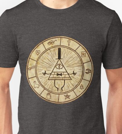 Bill Cipher Circle - Grafity Falls Unisex T-Shirt