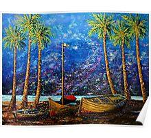 The Sandbox by Florida Artist John E Metcalfe Poster