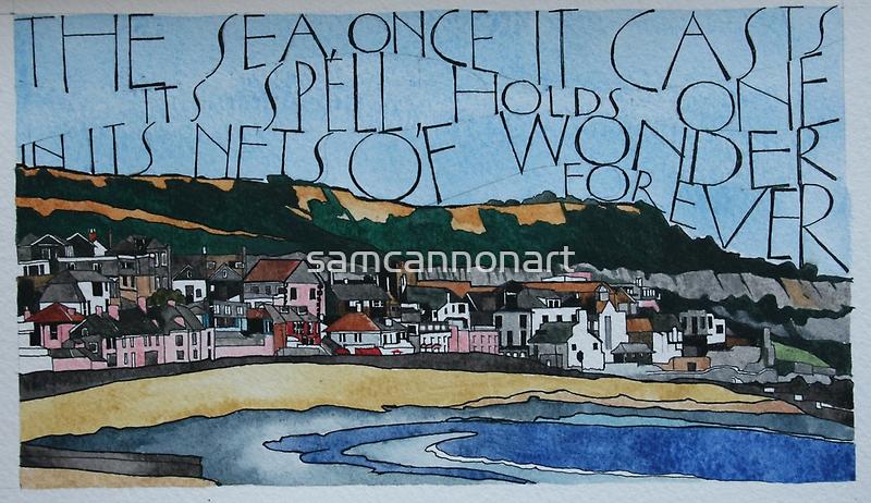 Lyme Bay sketch by samcannonart