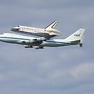 Shuttle Discovery on 747 by Edward Perry