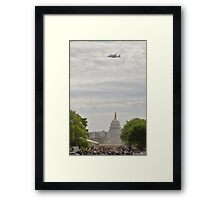 Shuttle Over Capitol Framed Print