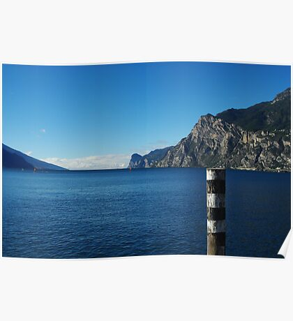 View on Lake Garda from near Riva del Garda, Italy Poster