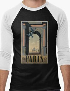 Vintage poster - Paris Men's Baseball ¾ T-Shirt