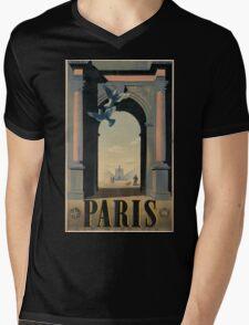 Vintage poster - Paris Mens V-Neck T-Shirt