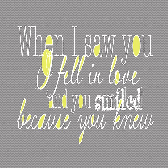 When I Saw You by Beth Thompson