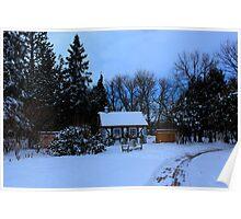 English Gardens (Winter View) Poster