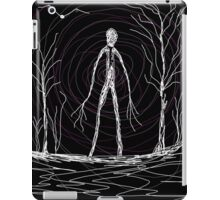 spooky woods whimsical astral magical mystical pagan wiccan witchcraft occult creepy art man iPad Case/Skin