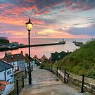 Whitby 199 Steps, Pink Glow. by MartinWilliams