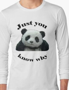 Panda Cheese Long Sleeve T-Shirt