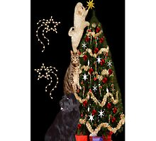THE FINISHING TOUCH ANIMALS DECORATING CHRISTMAS TREE IPHONE CASE by ╰⊰✿ℒᵒᶹᵉ Bonita✿⊱╮ Lalonde✿⊱╮