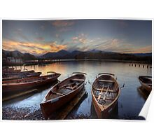 Derwent Water Rowing Boats Poster