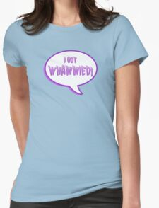 double whammy Womens Fitted T-Shirt