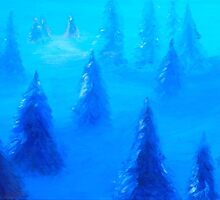 Blue Trees by Myles Williams