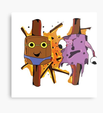 Illustration Marshmellow's Metal Print
