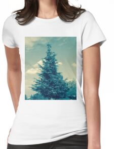 Vintage Tree Womens Fitted T-Shirt