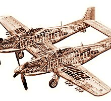 Vintage Airplane by wlartdesigns
