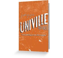 Greetings from Univille Greeting Card